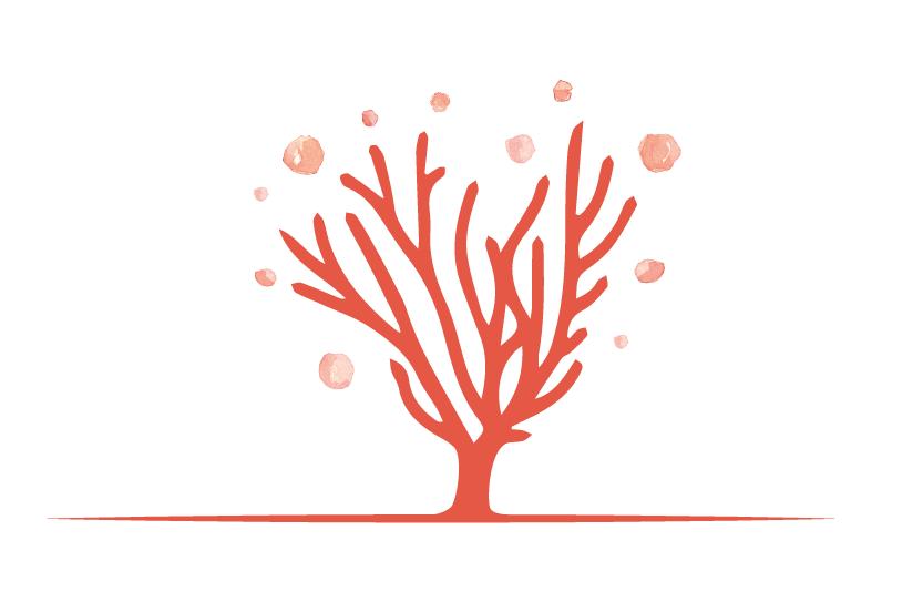 L'iconographie du logo de l'atelier du corail.