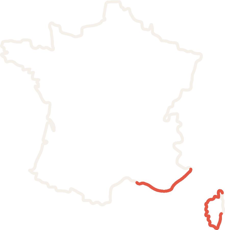 Cette image vous permet de voir où sont situés les derniers corailleurs en France, ces derniers pêcheurs de corail rouge de Méditerranée.