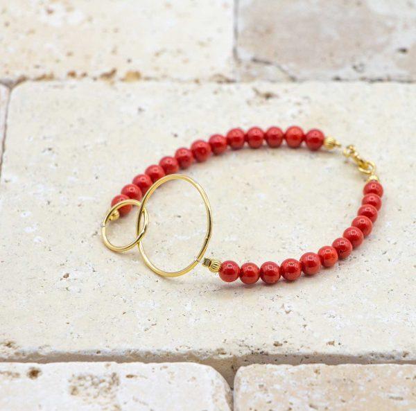 Bracelet perles & anneaux chics